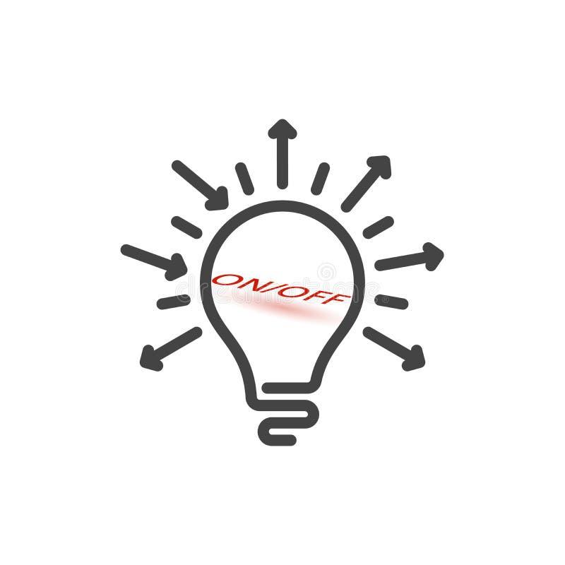 on and off light bulb idea stock vector  illustration of light