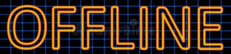 Off-line neonteken stock illustratie