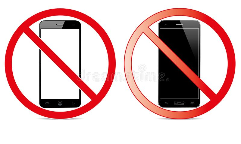 Off Mobile Sign Switch Off Phone Icon No Phone Allowed Mobile Warning Symbol vector illustration