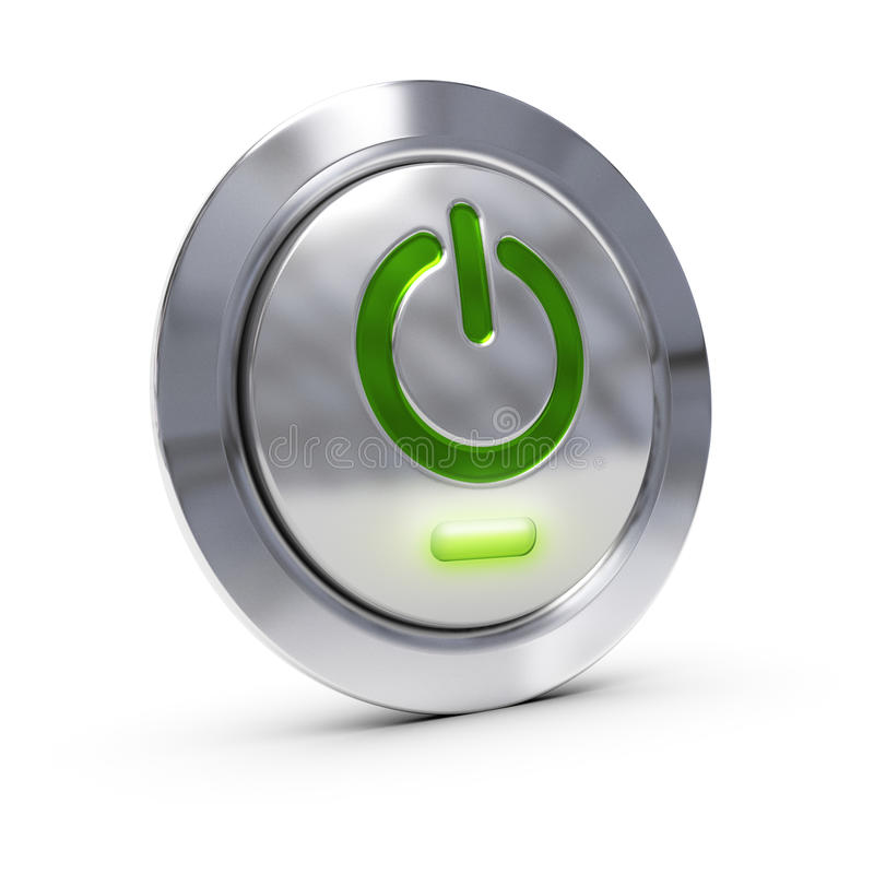Download On off pc button stock illustration. Illustration of green - 26296034