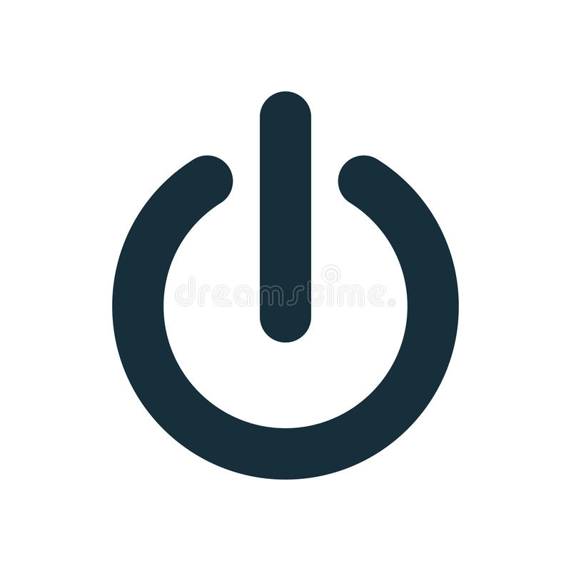 On off power button switch icon royalty free illustration