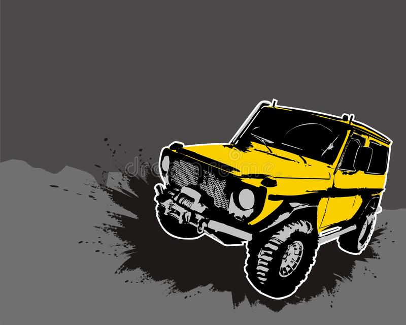 Off-road. Jeep. Vector illustration vector illustration