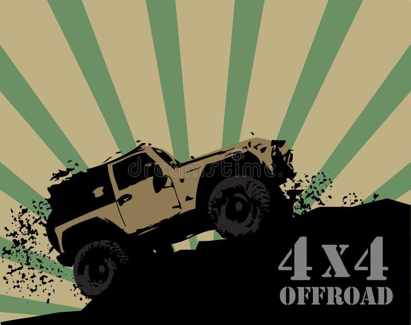 Off-road achtergrond vector illustratie