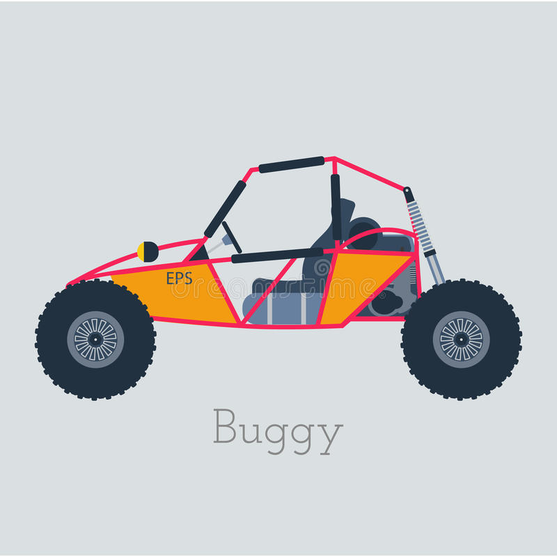 4x4 buggy off road buggy 4x4 illustration buggy car on gray background