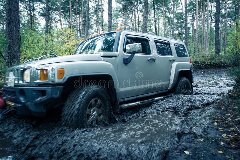 Off road car stock images