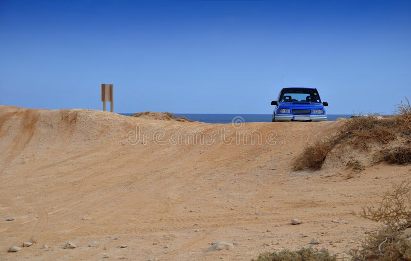 Download Off road car in beach stock photo. Image of exploration - 14412074