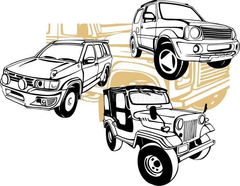 Off-Road Cars - Vector set. Vinyl-Ready vector illustration