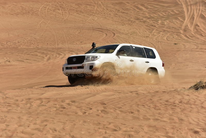 Off Road Driving in the Wahiba Desert royalty free stock photography