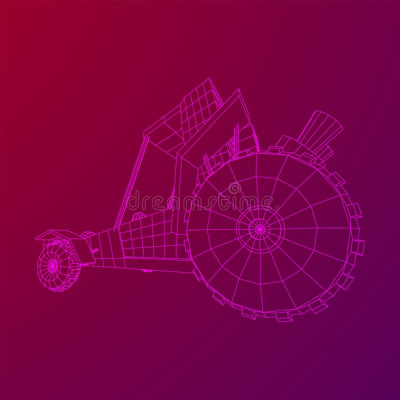 Off road dune buggy car. Terrain vehicle. Outdoor car racing, extreme sport oncept. Wireframe low poly mesh vector illustration vector illustration