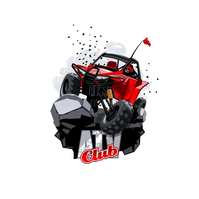 Off-Road Embleem Met fouten van ATV, Club royalty-vrije illustratie