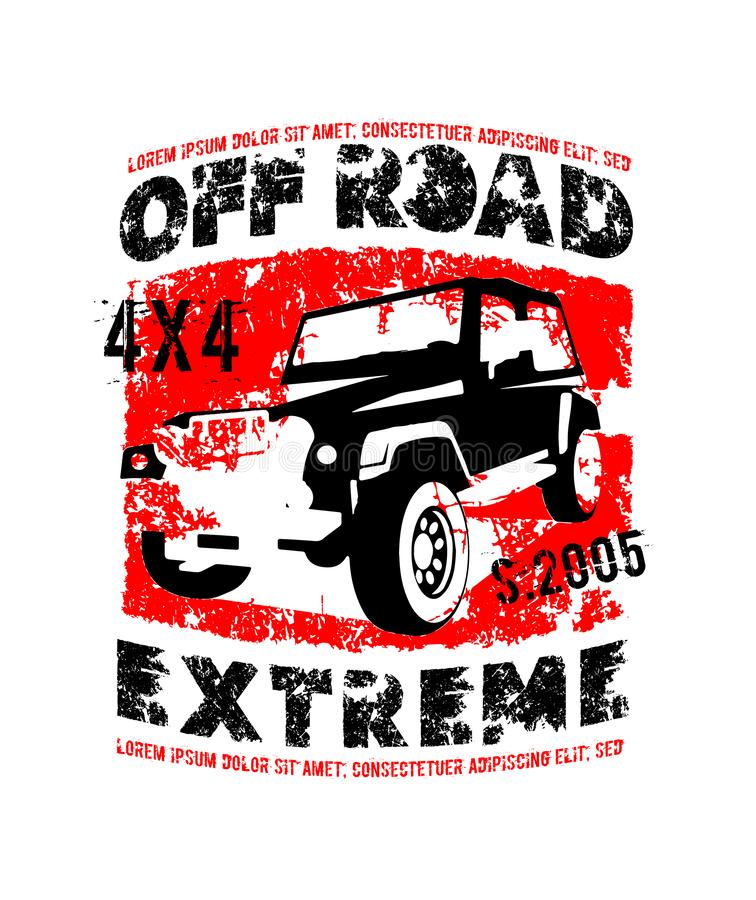 Off-road Expedition logo royalty free illustration