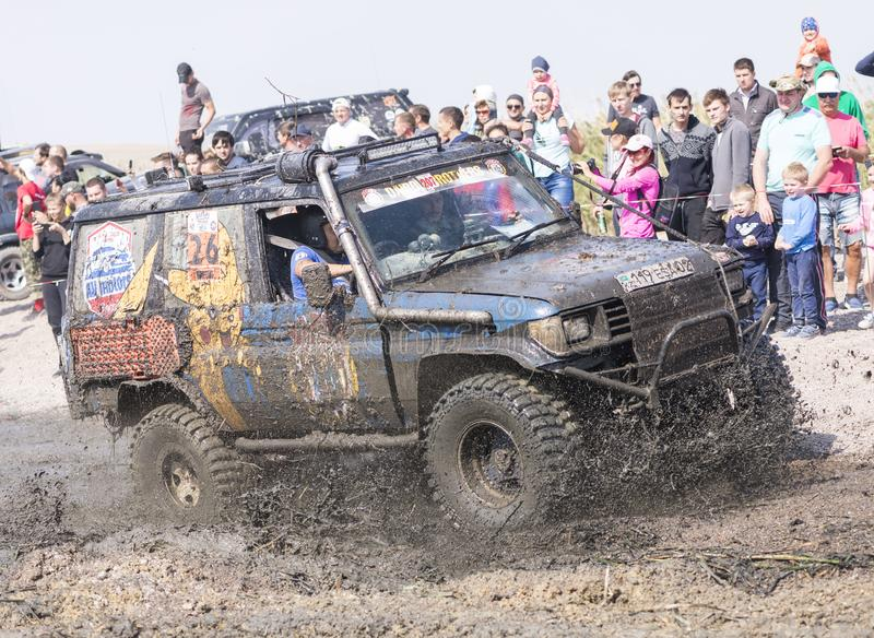 Off-road jeep competition stock images