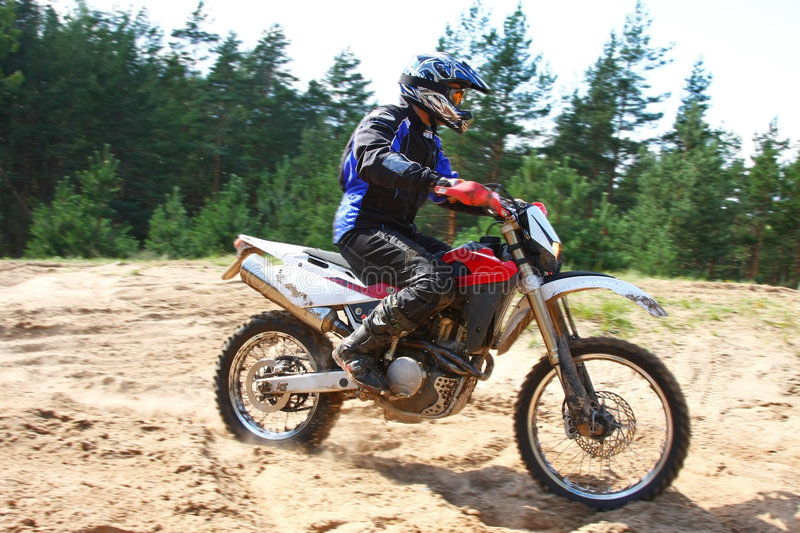 Download Off-road Motorbike In Motion. Stock Image - Image: 6288857