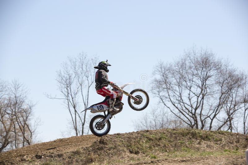 Off road motorcycle racing stock photos