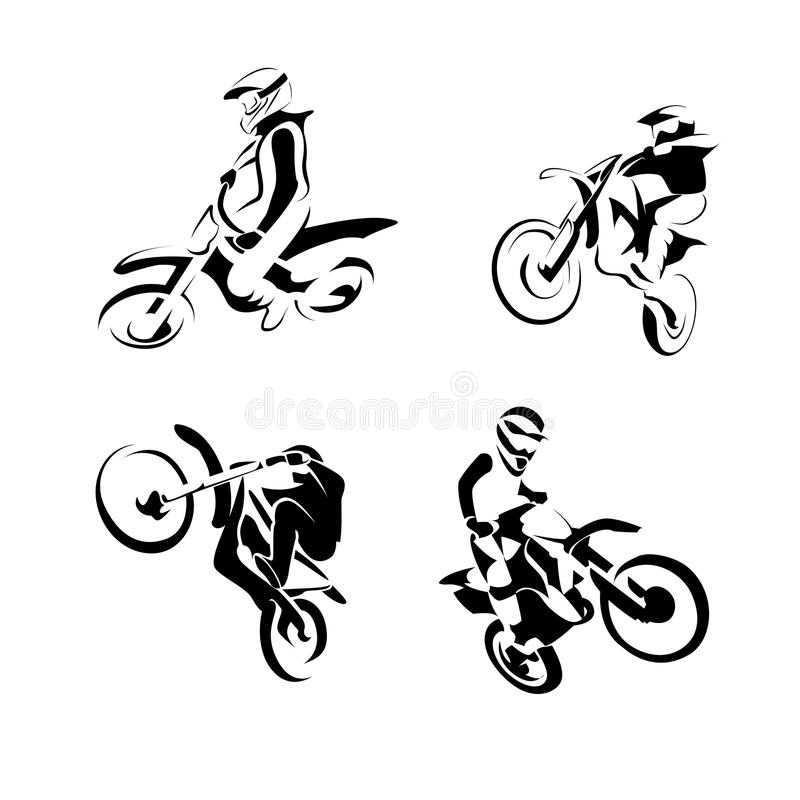 Off road sport Motorcycle stock illustration
