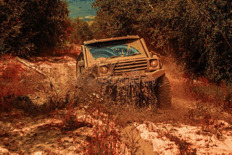 Best Off Road 4x4 >> Off Road Sport Truck Between Mountains Landscape Expedition