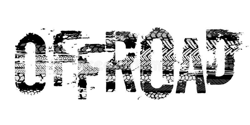 Off-Road Tire Lettering royalty free illustration