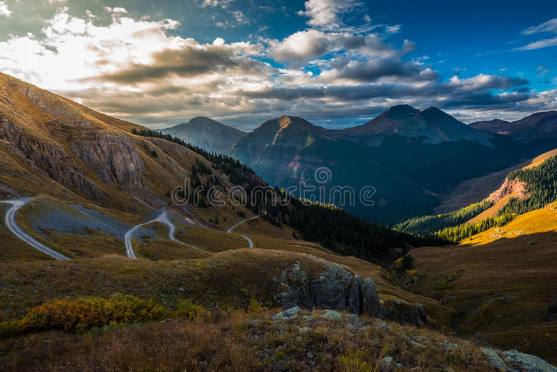 Off Road Trail Clear lake San Juan Mountains royalty free stock photography