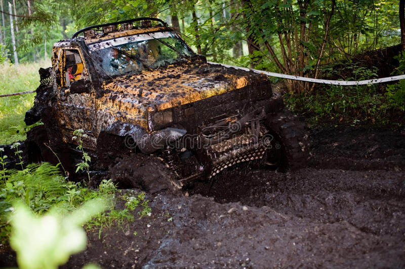 Download Off Road Truck In Trial Competition Stock Photo - Image: 10774092