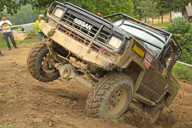 Download Off-road Vehicle On Top Of A Steep Hill Editorial Stock Image - Image: 26215124