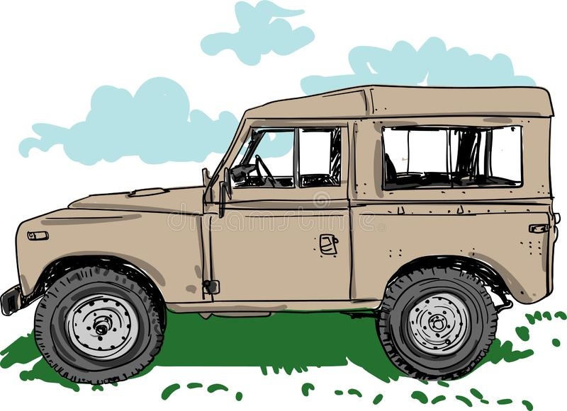 Off road Vehicle  illustration for designs royalty free illustration