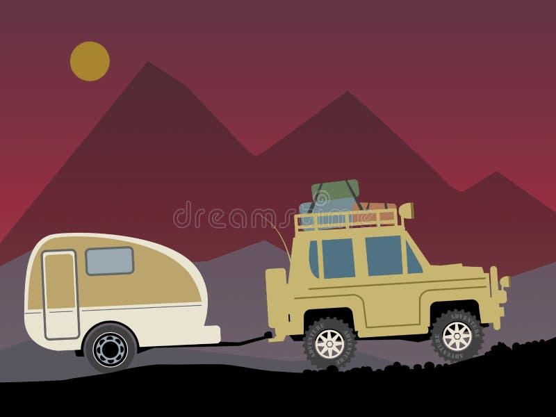 Off-road voertuig stock illustratie