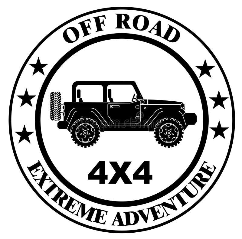 Off-roading suv przygoda i samochodu wydarzenie projektujemy elementy ilustracji