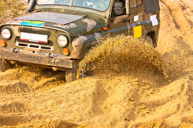 Off roading thrill royalty free stock photo