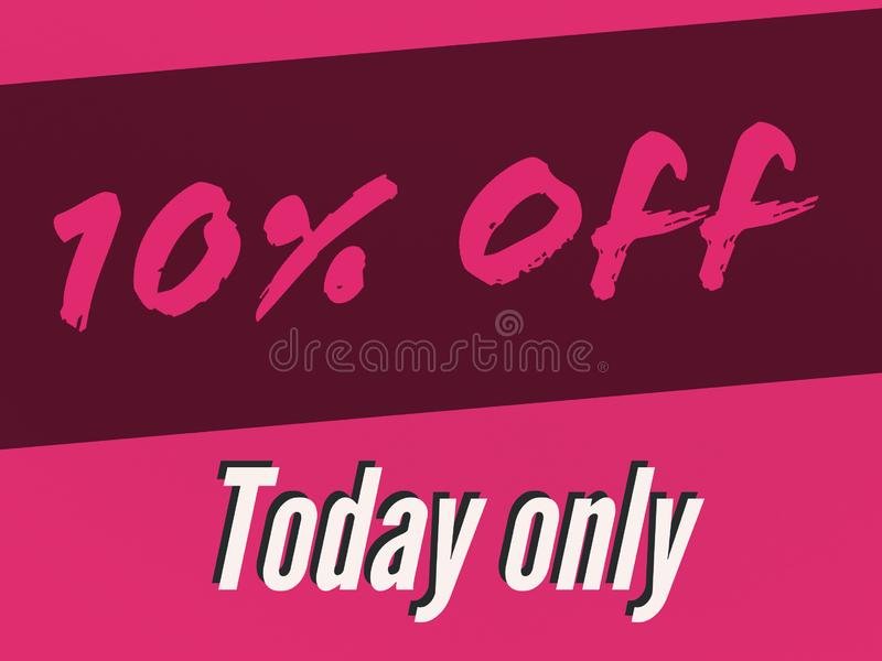 10% off sale for the day banner. 10 off sale day banner price buy royalty free illustration