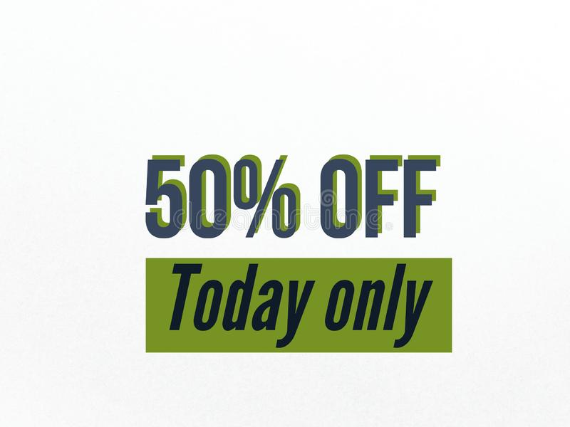 50% off sale for a day banner for use. 50 off sale day banner use sell buy purchase shopping vector illustration