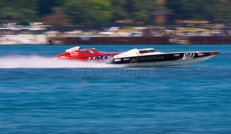 Off-Shore Boat Racing royalty free stock photos