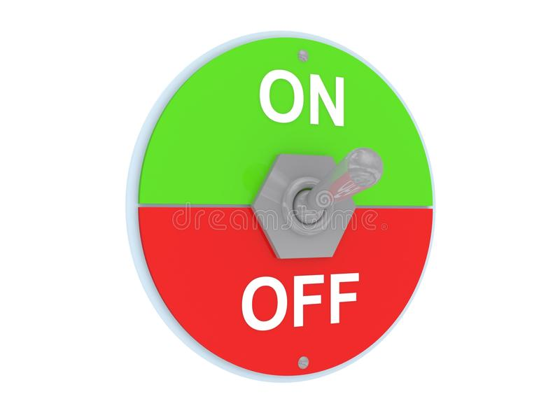 Download On and off switch stock illustration. Image of icon, green - 25722921