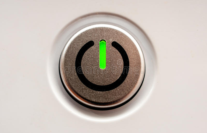 On off switch. stock image