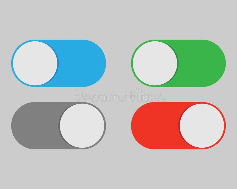 On And Off Switch Toggle Isolated Onbackground. Vector Illustration ...