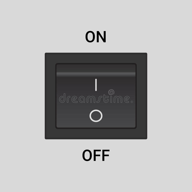On Off switch. Vector design button or icon, in off position vector illustration