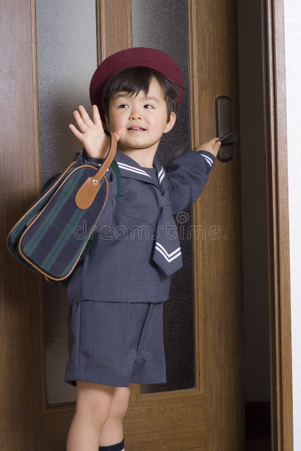 Off to school stock image
