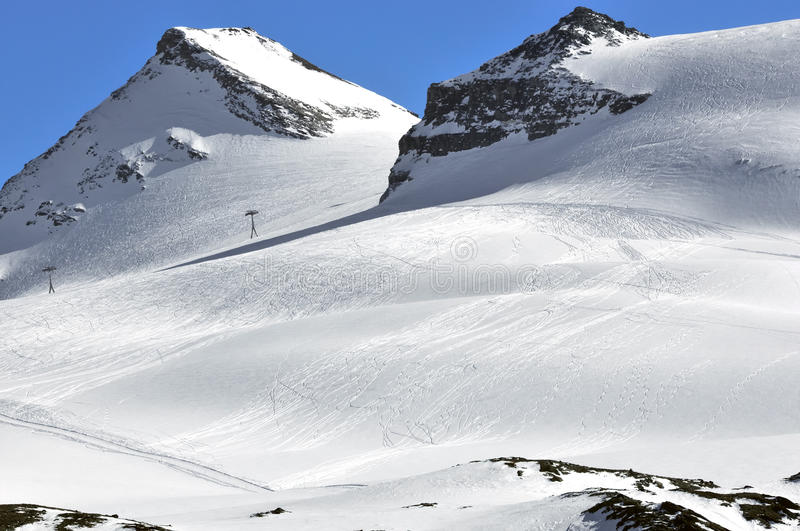 Off trail skiing stock photography