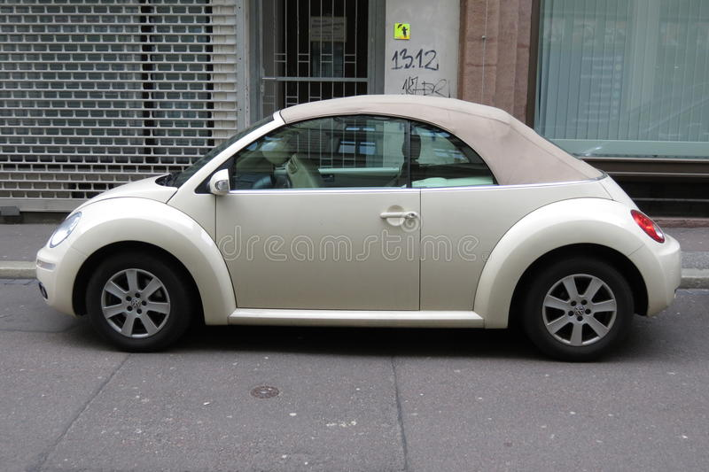 off white volkswagen new beetle cabrio editorial stock. Black Bedroom Furniture Sets. Home Design Ideas