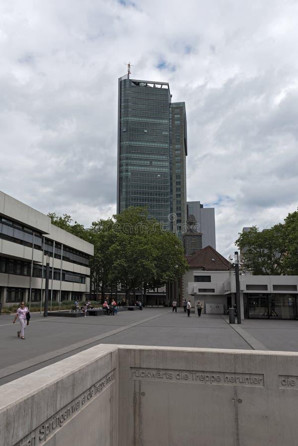offenbach上午主要,黑森,德国市政厅和市议会  免版税库存照片