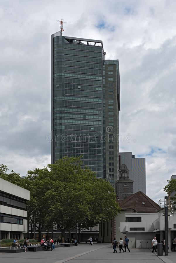 offenbach上午主要,黑森,德国市政厅和市议会  免版税图库摄影