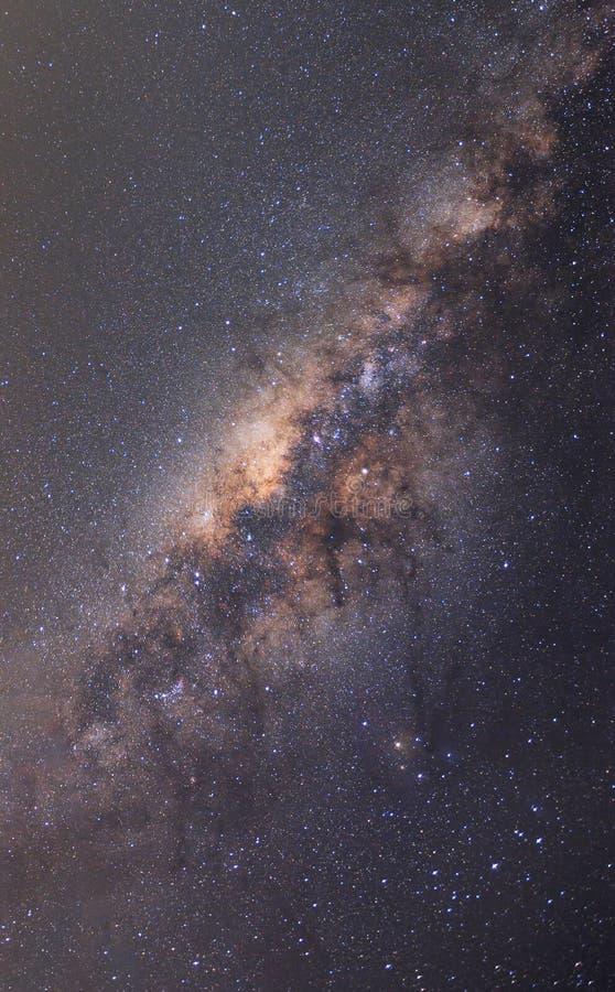 Offenbar Milchstraße auf nächtlichem Himmel mit Million Stern lizenzfreie stockbilder