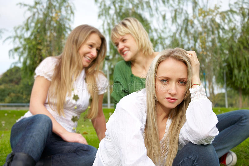 Download Offended girl stock photo. Image of idle, fight, disagreement - 15376536