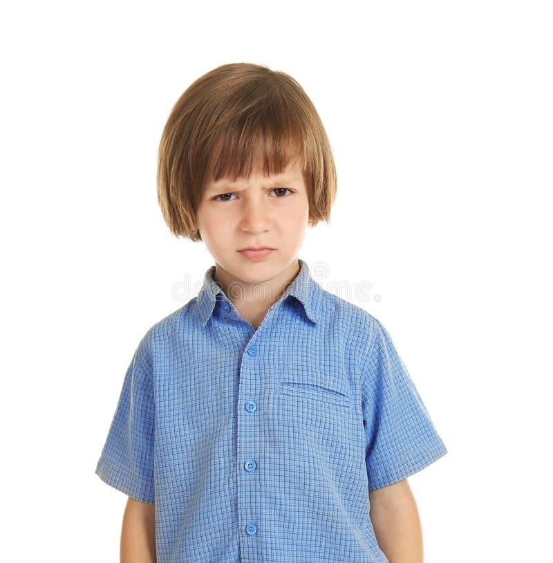 Offendi il ragazzino su fondo bianco immagini stock