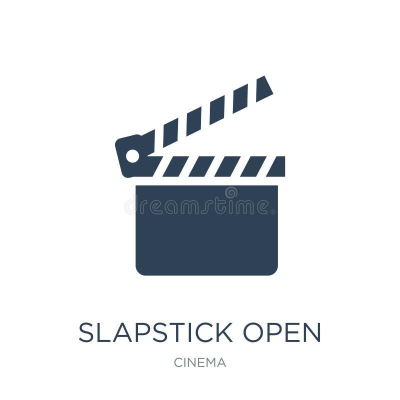 offene Ikone des Slapsticks in der modischen Entwurfsart offene Ikone des Slapsticks lokalisiert auf weißem Hintergrund offene Ve vektor abbildung
