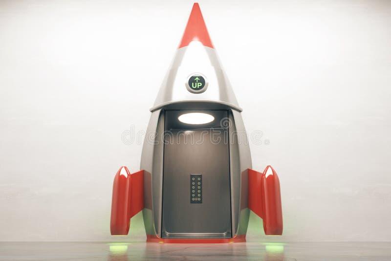 Offene Rakete des Erfolgskonzeptes vektor abbildung