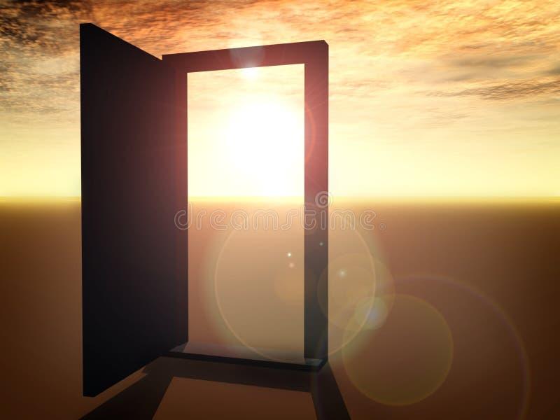 Offene Tür lizenzfreie abbildung
