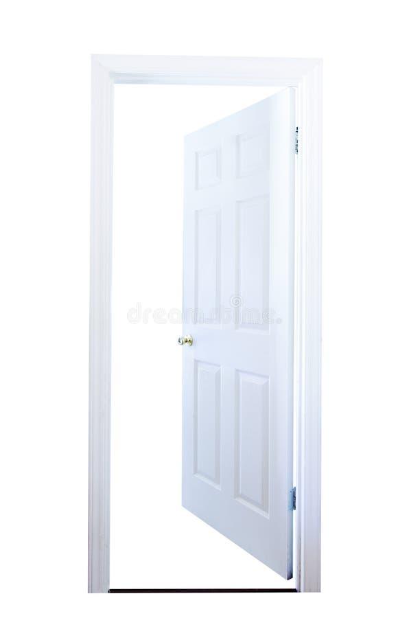 Offene Tür getrennt lizenzfreies stockfoto