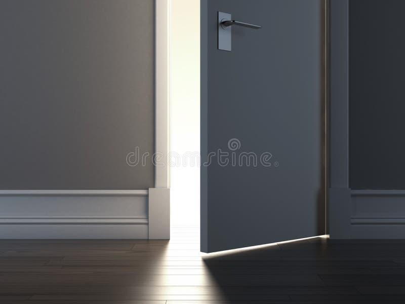 Offene Tür mit Licht vektor abbildung