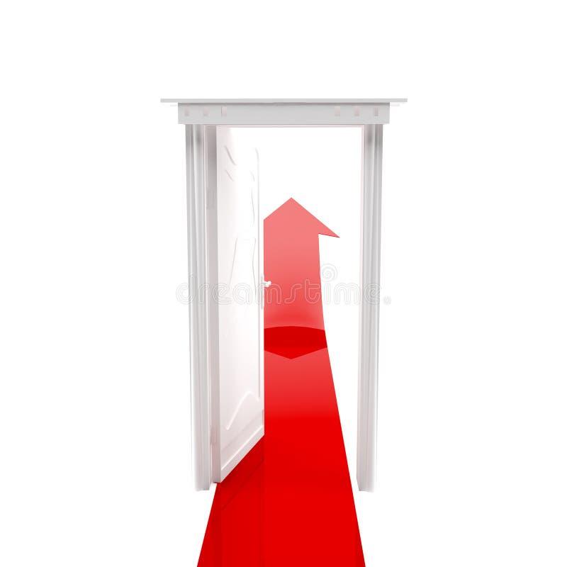 Offene Tür und Pfeil vektor abbildung