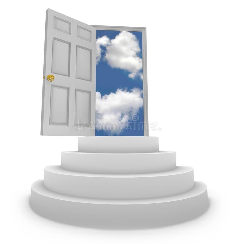 Offene Tür zu den neuen Gelegenheiten stock abbildung